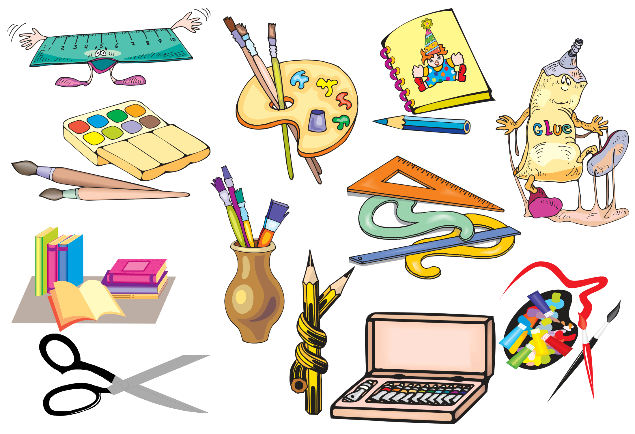 Картинка про школьные предметы
