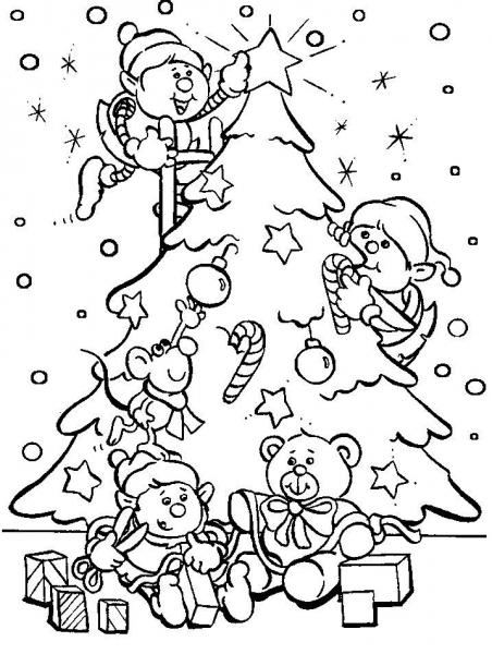 Раскраска на Новый 2020 год: шаблоны, новогодние, для детей